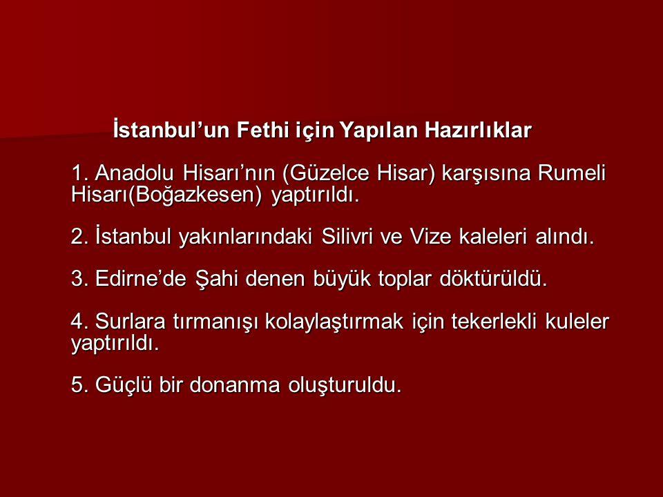 İstanbul'un Fethi için Yapılan Hazırlıklar 1