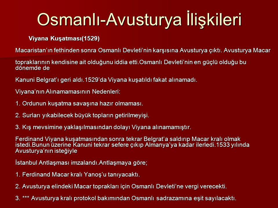 Osmanlı-Avusturya İlişkileri