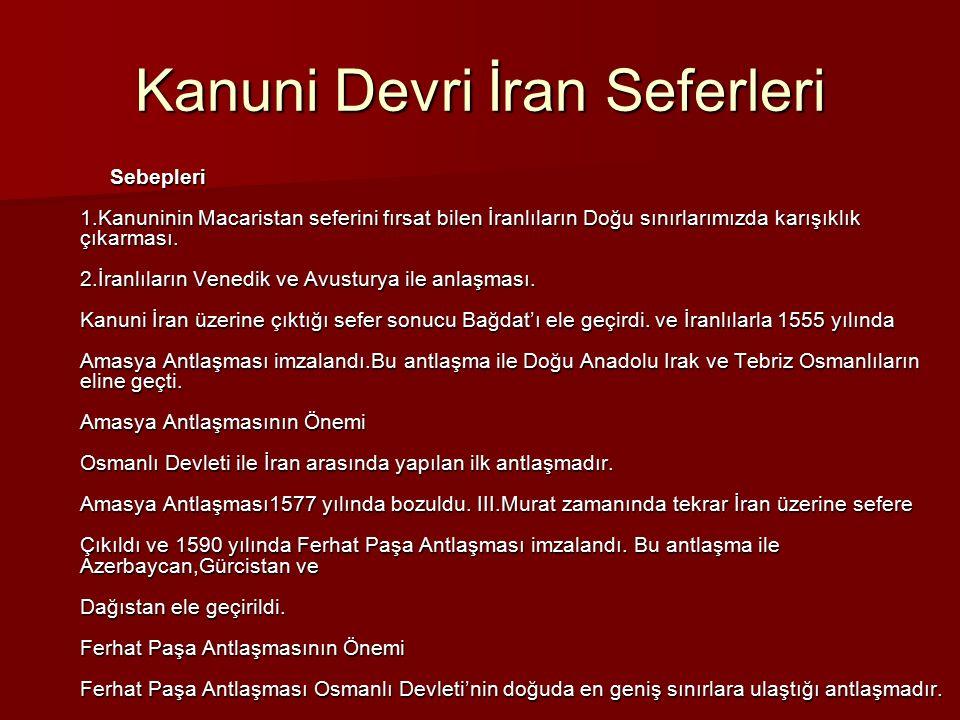 Kanuni Devri İran Seferleri