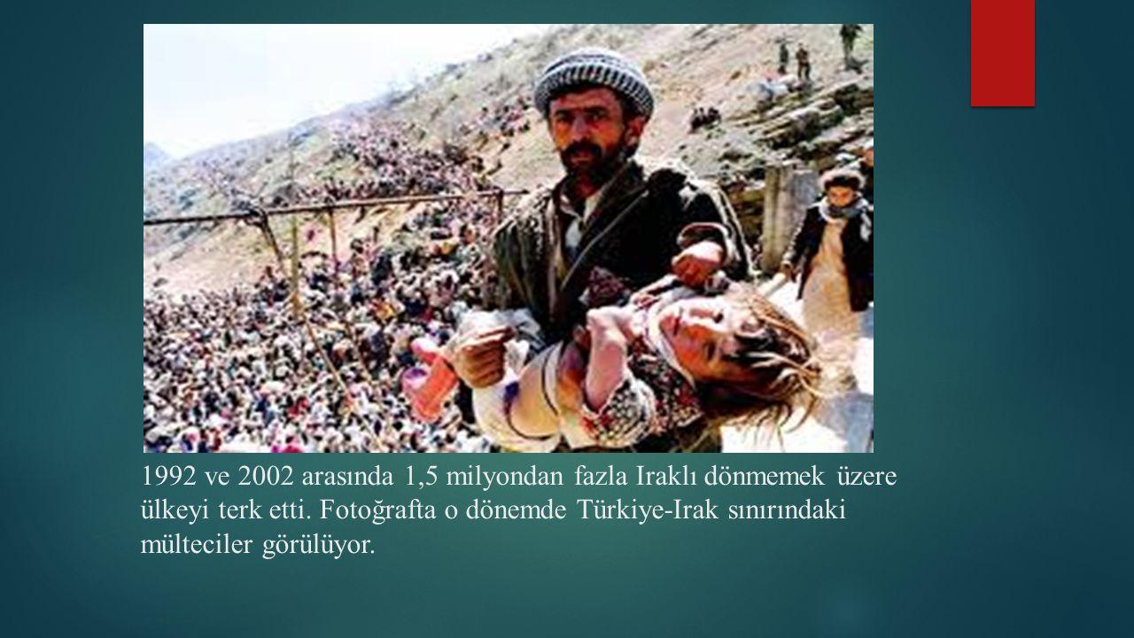 1992 ve 2002 arasında 1,5 milyondan fazla Iraklı dönmemek üzere ülkeyi terk etti.