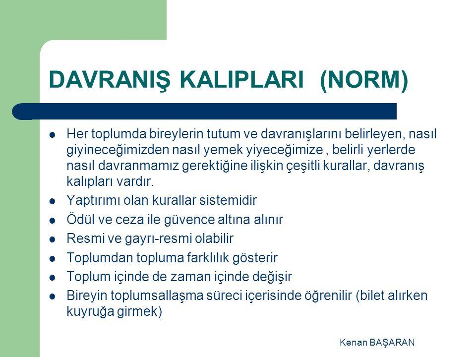 DAVRANIŞ KALIPLARI (NORM)