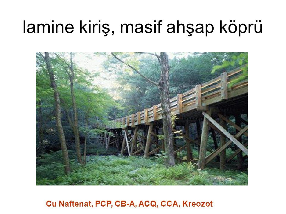 lamine kiriş, masif ahşap köprü