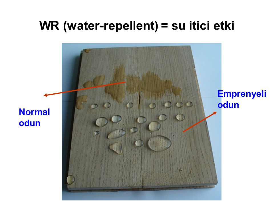 WR (water-repellent) = su itici etki
