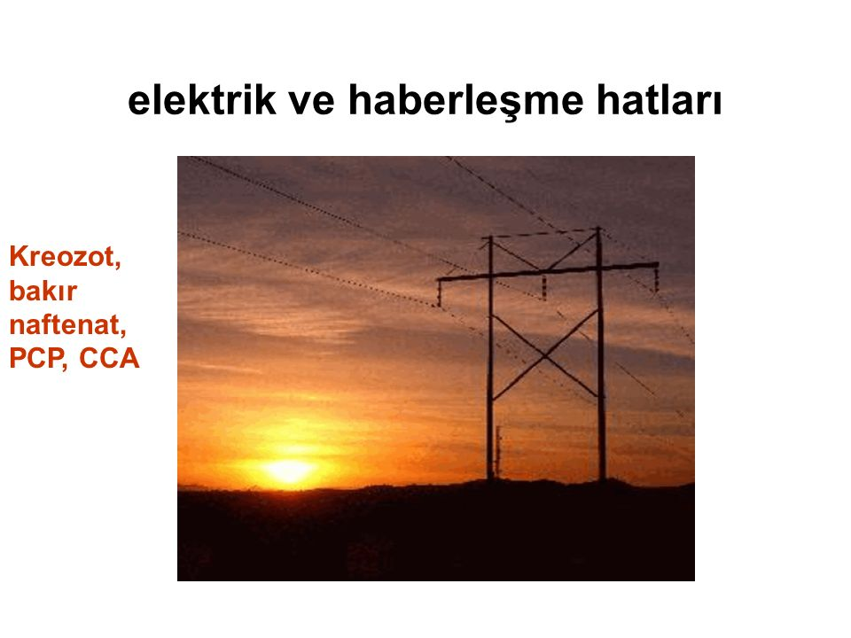 elektrik ve haberleşme hatları