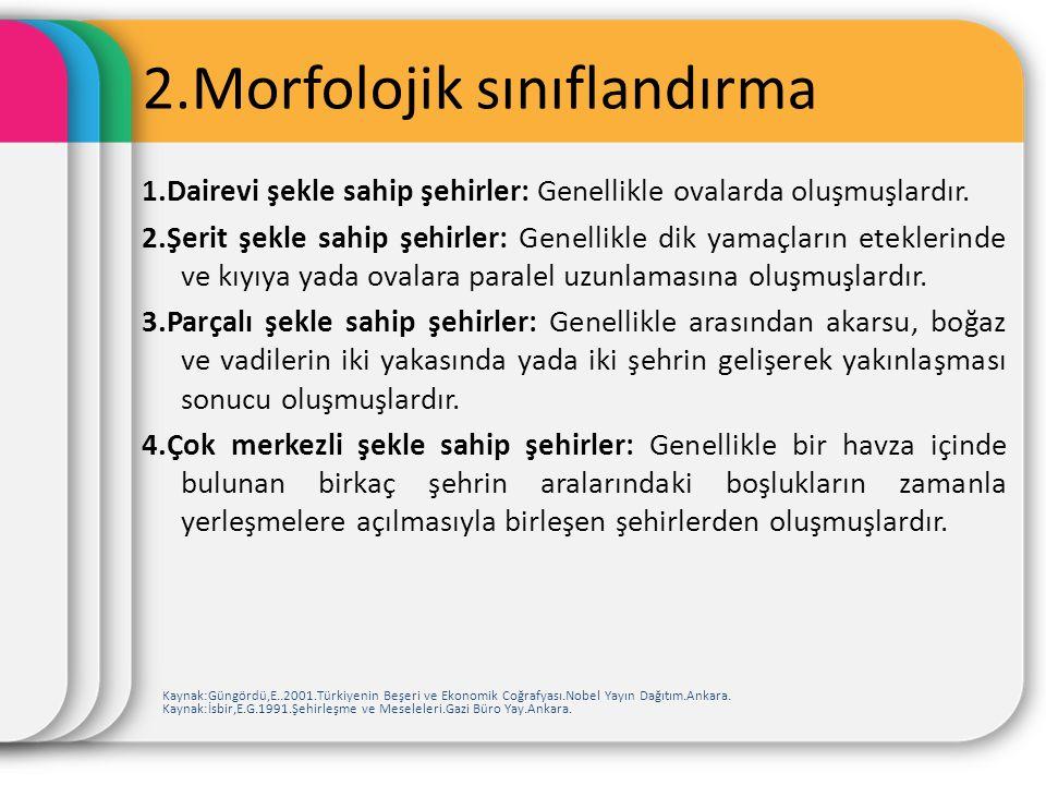 2.Morfolojik sınıflandırma