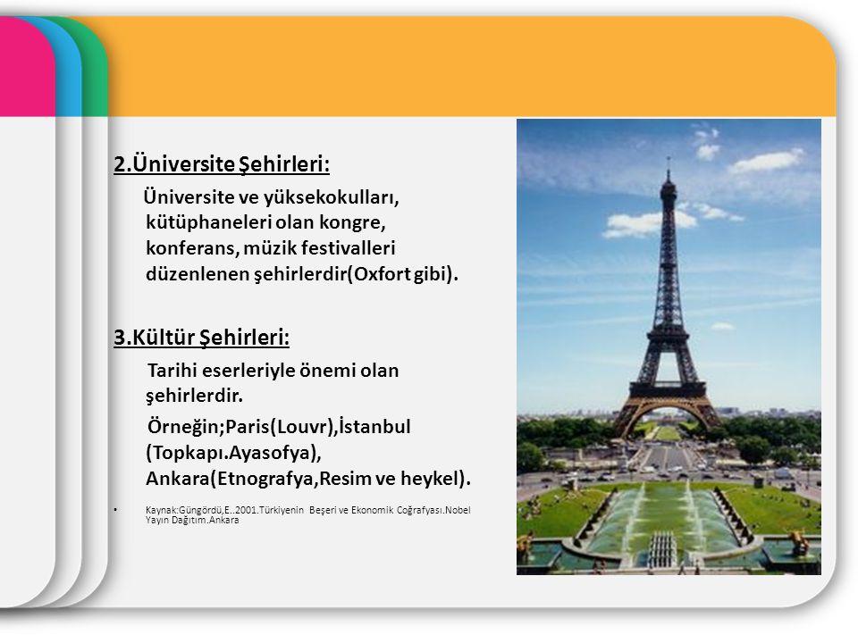 2.Üniversite Şehirleri: