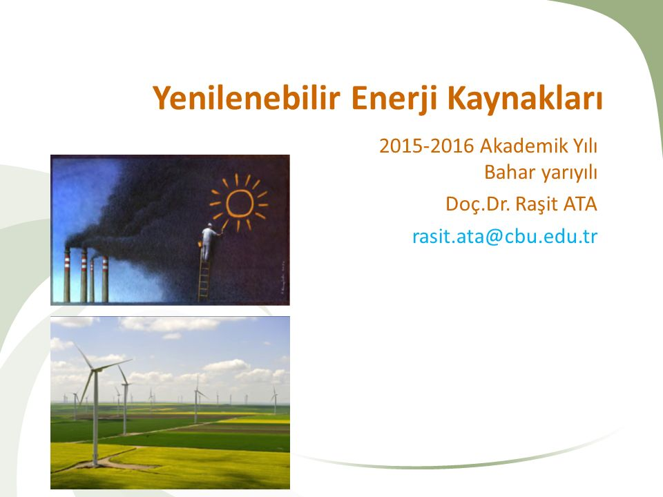Yenilenebilir Enerji Kaynakları