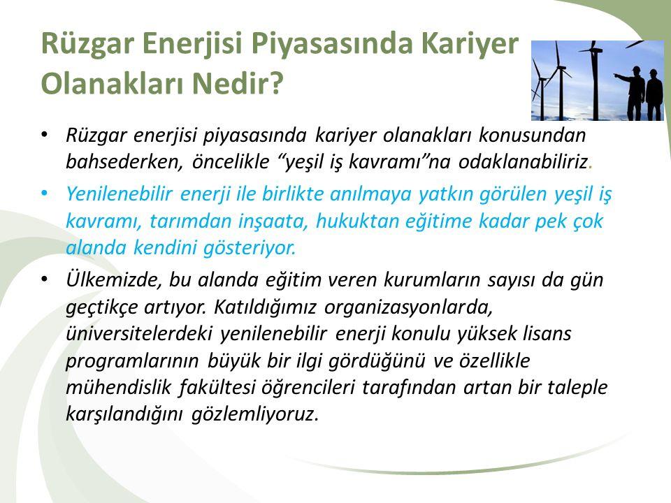 Rüzgar Enerjisi Piyasasında Kariyer Olanakları Nedir