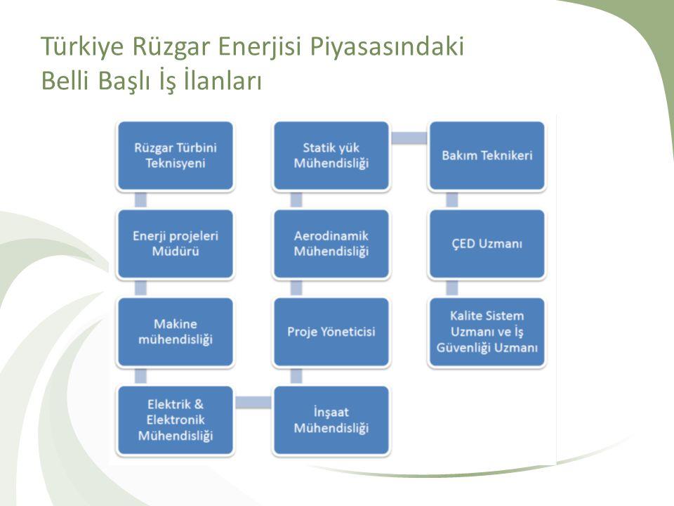 Türkiye Rüzgar Enerjisi Piyasasındaki Belli Başlı İş İlanları