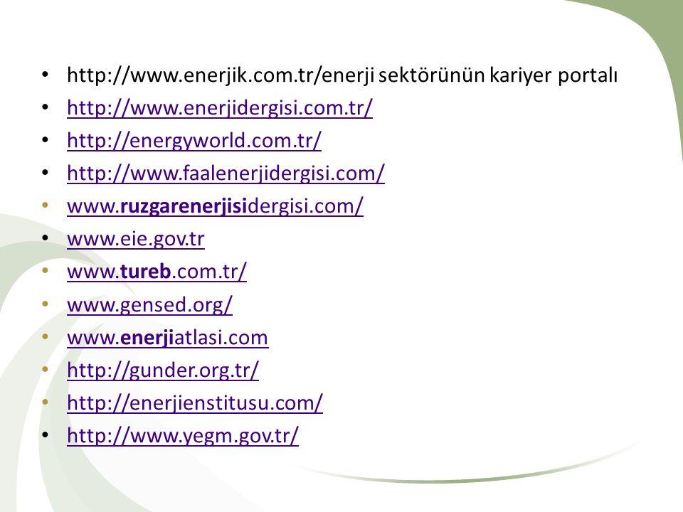 http://www.enerjik.com.tr/enerji sektörünün kariyer portalı