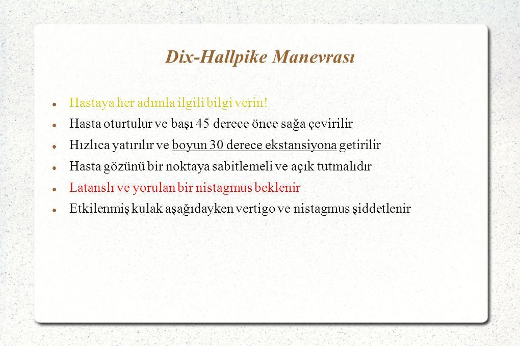 Dix-Hallpike Manevrası