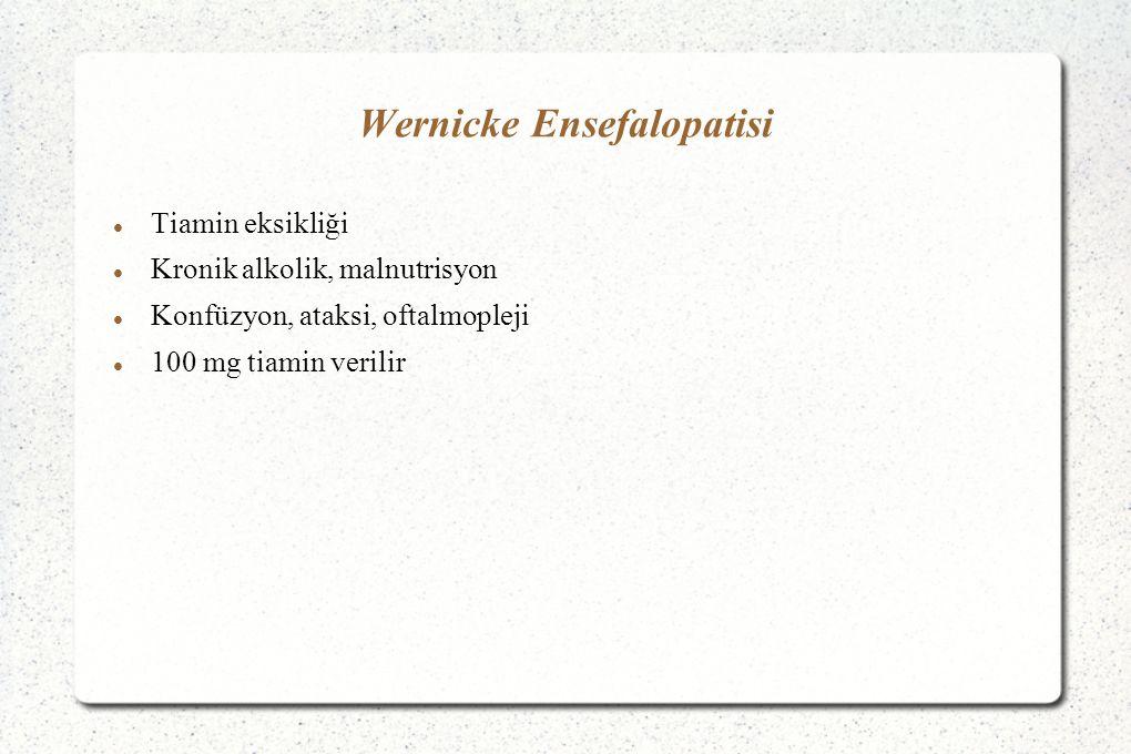 Wernicke Ensefalopatisi