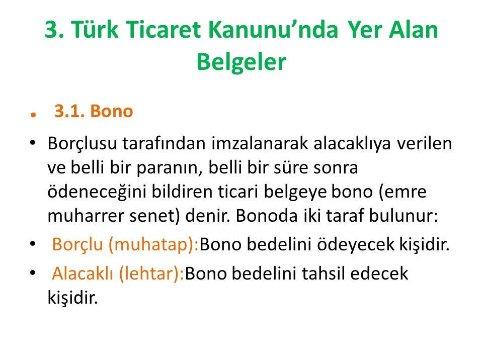 3. Türk Ticaret Kanunu'nda Yer Alan Belgeler