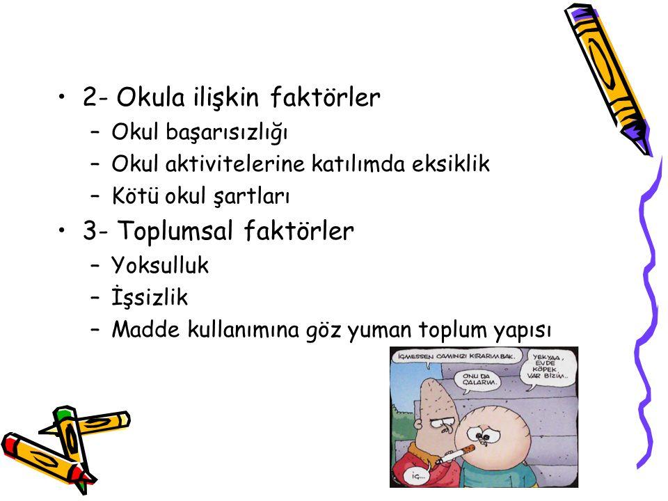 2- Okula ilişkin faktörler