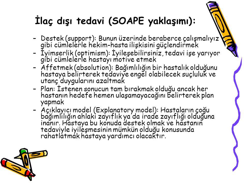 İlaç dışı tedavi (SOAPE yaklaşımı):