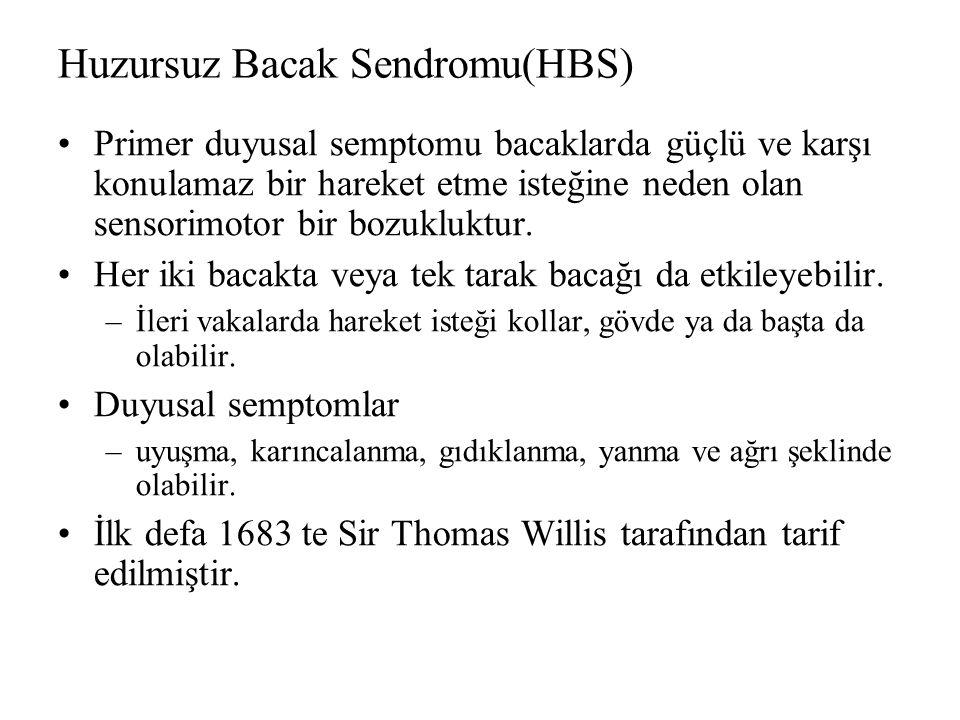 Huzursuz Bacak Sendromu(HBS)