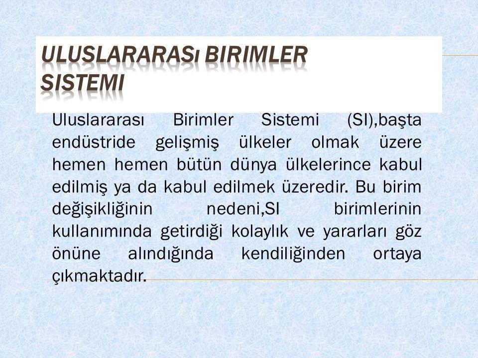 Uluslararası Birimler Sistemi