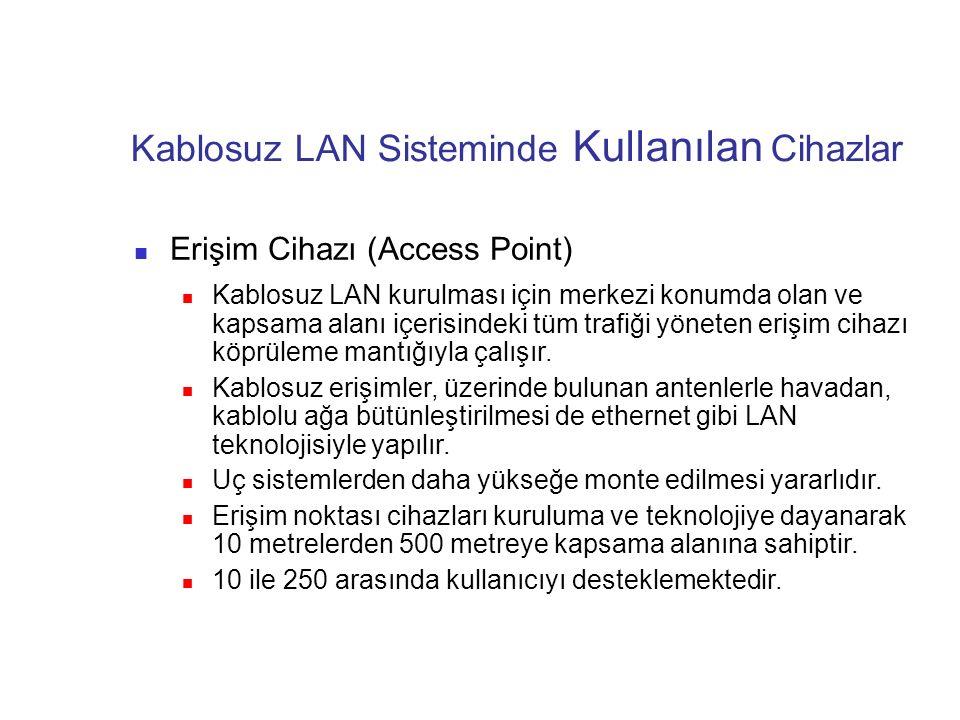 Kablosuz LAN Sisteminde Kullanılan Cihazlar