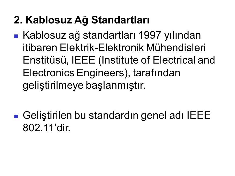 2. Kablosuz Ağ Standartları