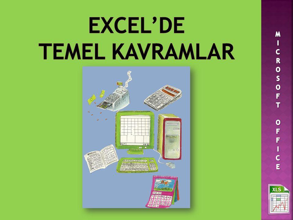 EXCEL'DE TEMEL KAVRAMLAR