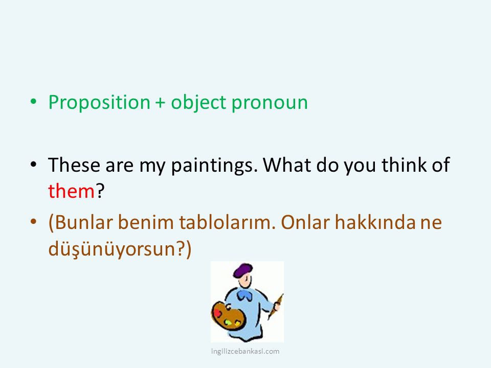 Proposition + object pronoun
