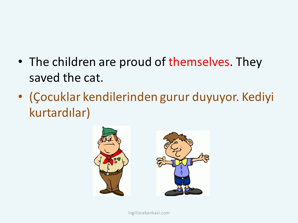 The children are proud of themselves. They saved the cat.