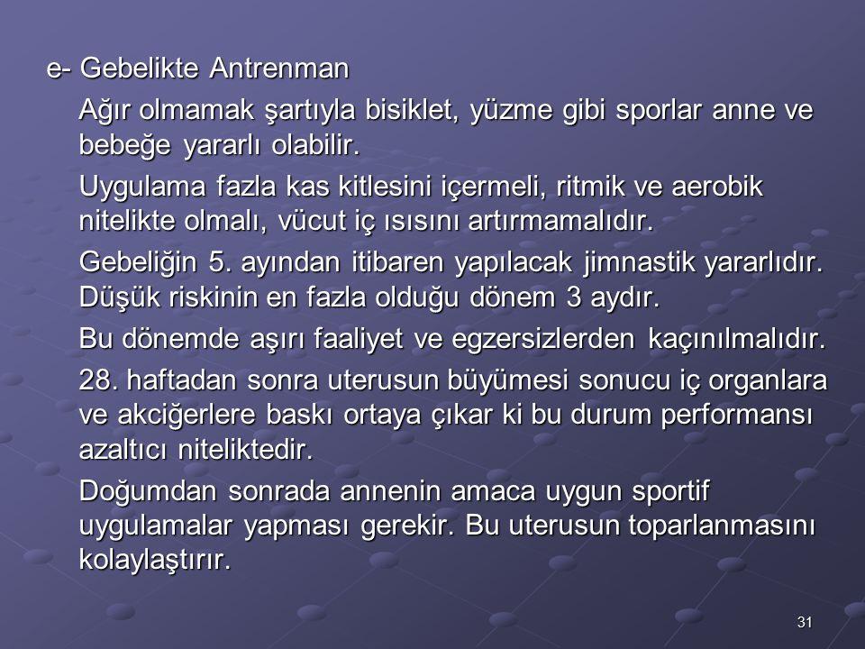 e- Gebelikte Antrenman