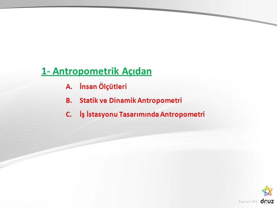1- Antropometrik Açıdan