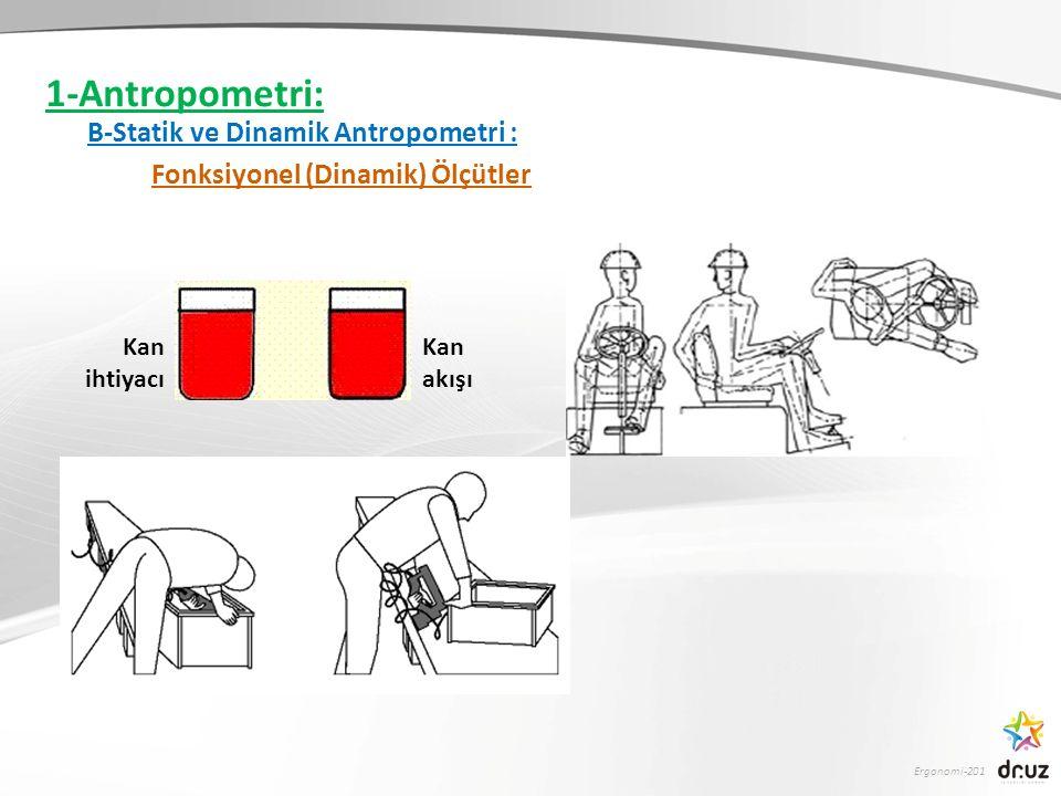 1-Antropometri: B-Statik ve Dinamik Antropometri :