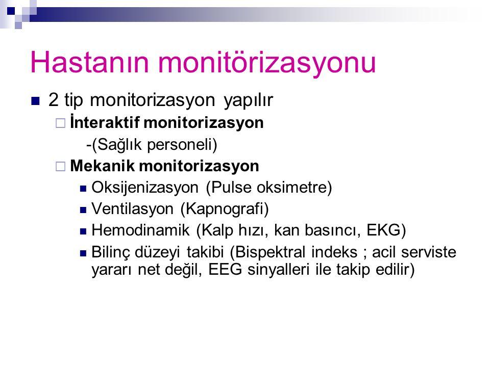 Hastanın monitörizasyonu