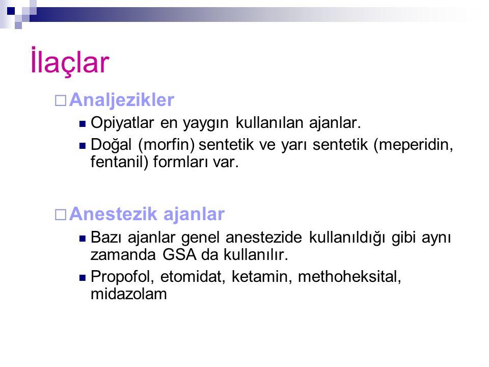İlaçlar Analjezikler Anestezik ajanlar