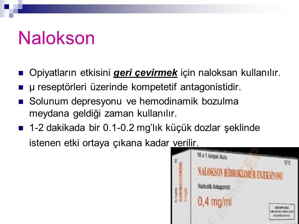 Nalokson Opiyatların etkisini geri çevirmek için naloksan kullanılır.