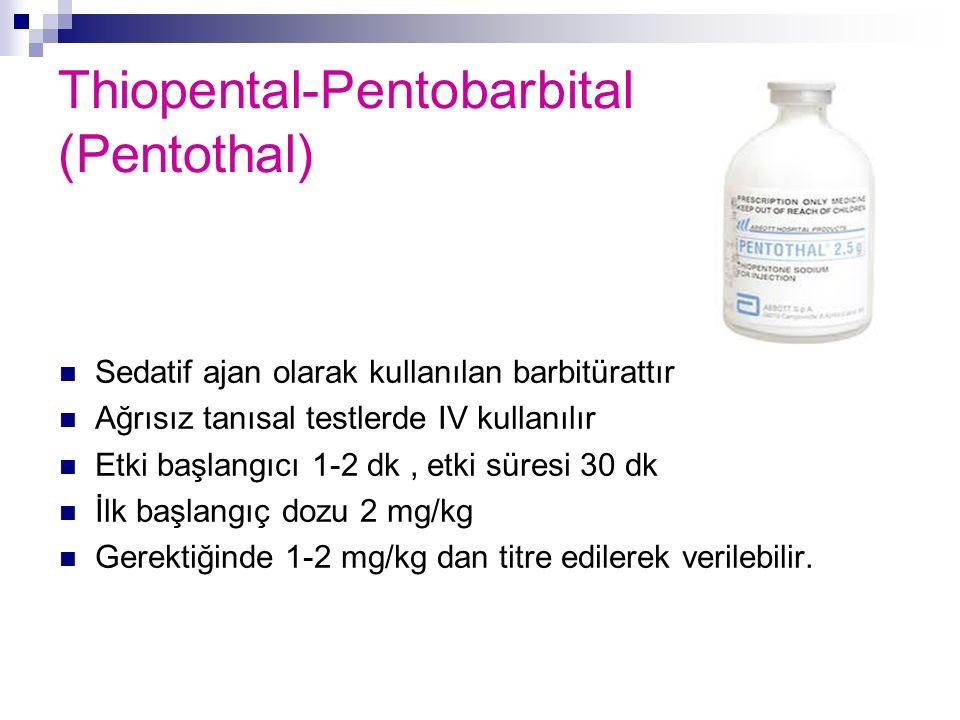 Thiopental-Pentobarbital (Pentothal)