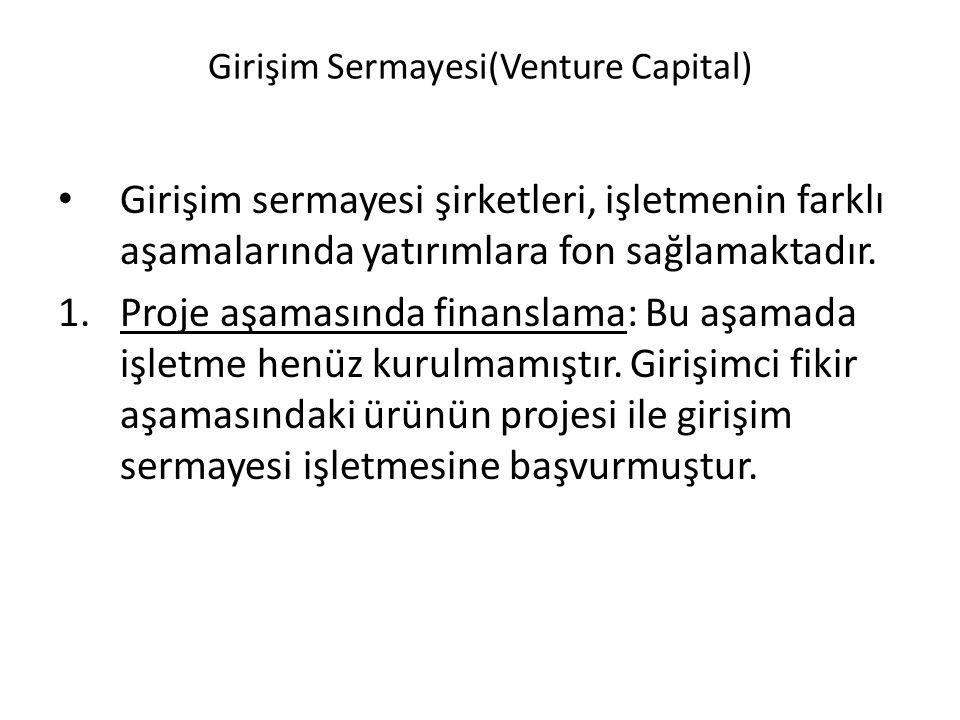 Girişim Sermayesi(Venture Capital)