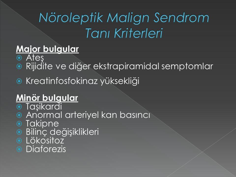 Nöroleptik Malign Sendrom Tanı Kriterleri