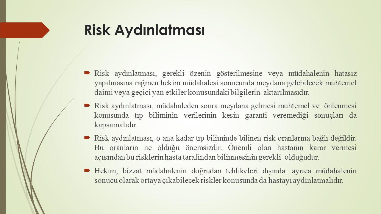 Risk Aydınlatması