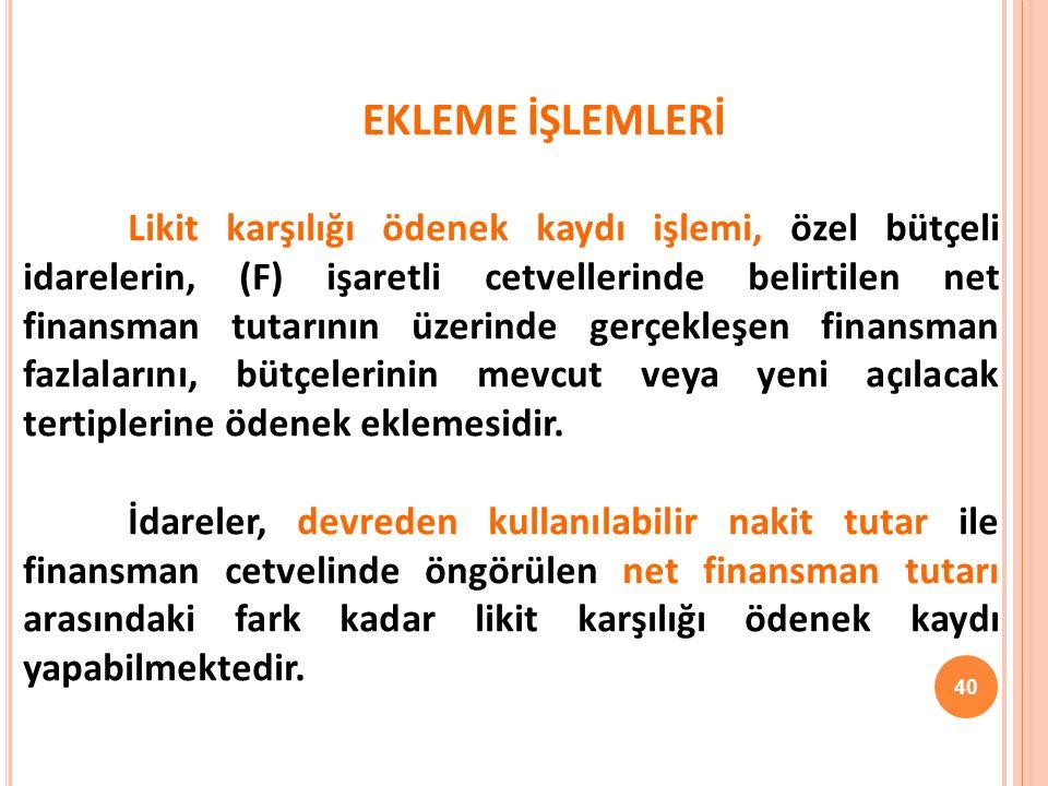EKLEME İŞLEMLERİ