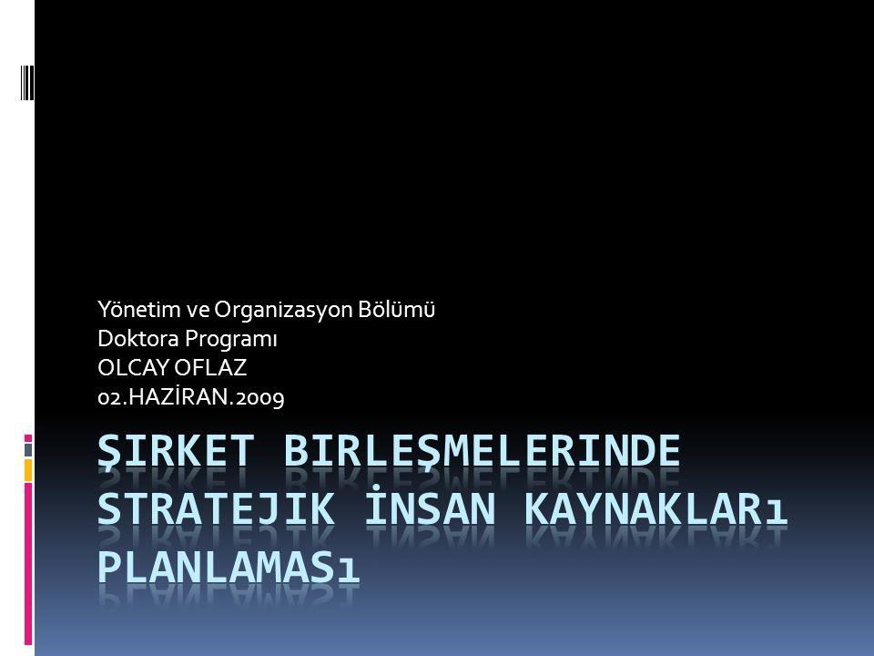 Şirket Birleşmelerinde Stratejik İnsan Kaynakları Planlaması