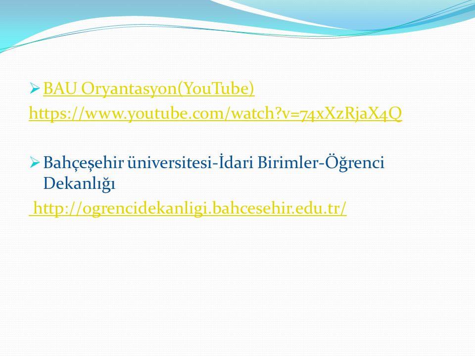 BAU Oryantasyon(YouTube)