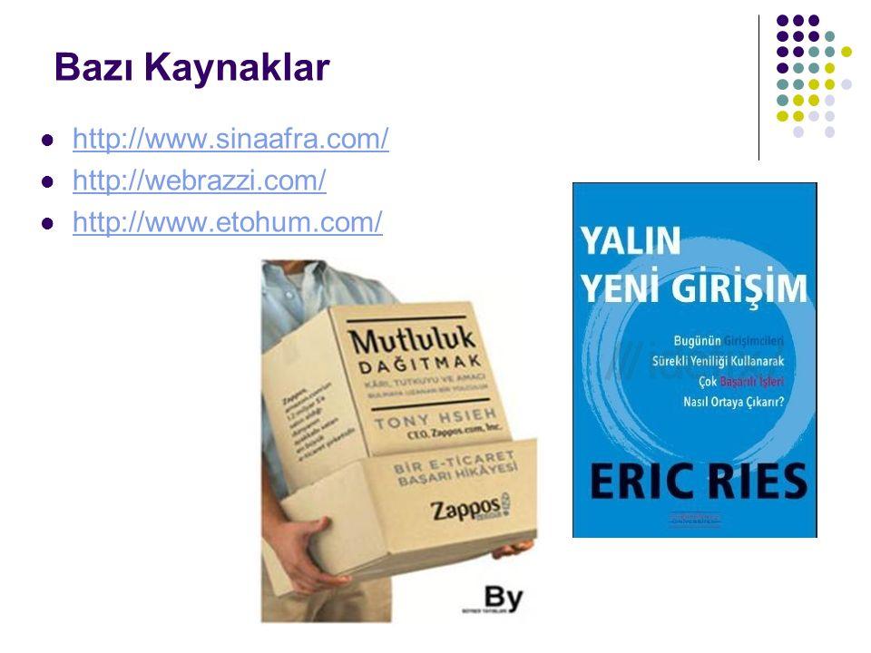 Bazı Kaynaklar http://www.sinaafra.com/ http://webrazzi.com/