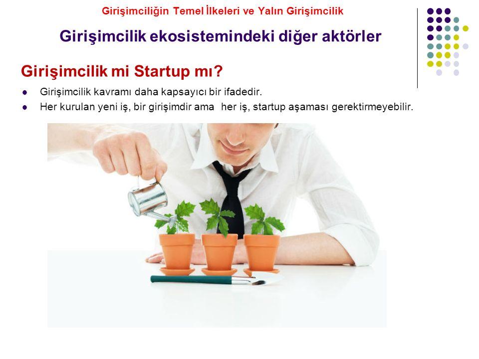 Girişimcilik mi Startup mı