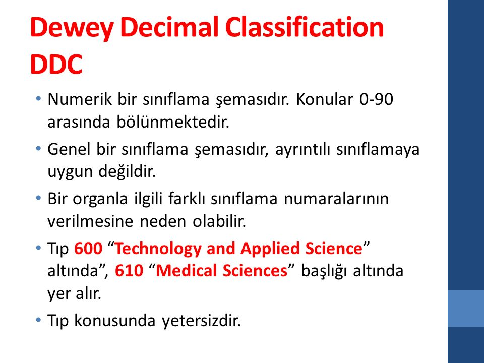 Dewey Decimal Classification DDC