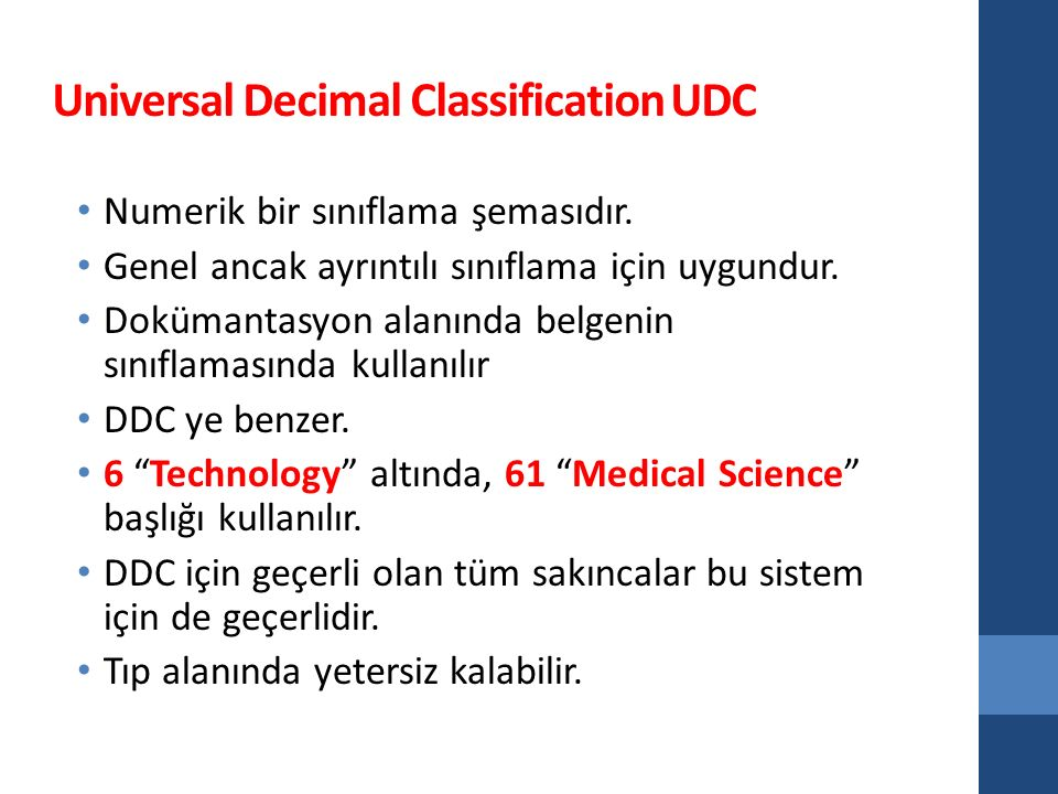 Universal Decimal Classification UDC