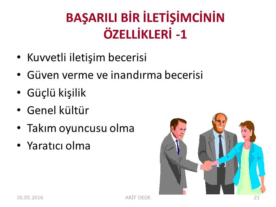 BAŞARILI BİR İLETİŞİMCİNİN ÖZELLİKLERİ -1