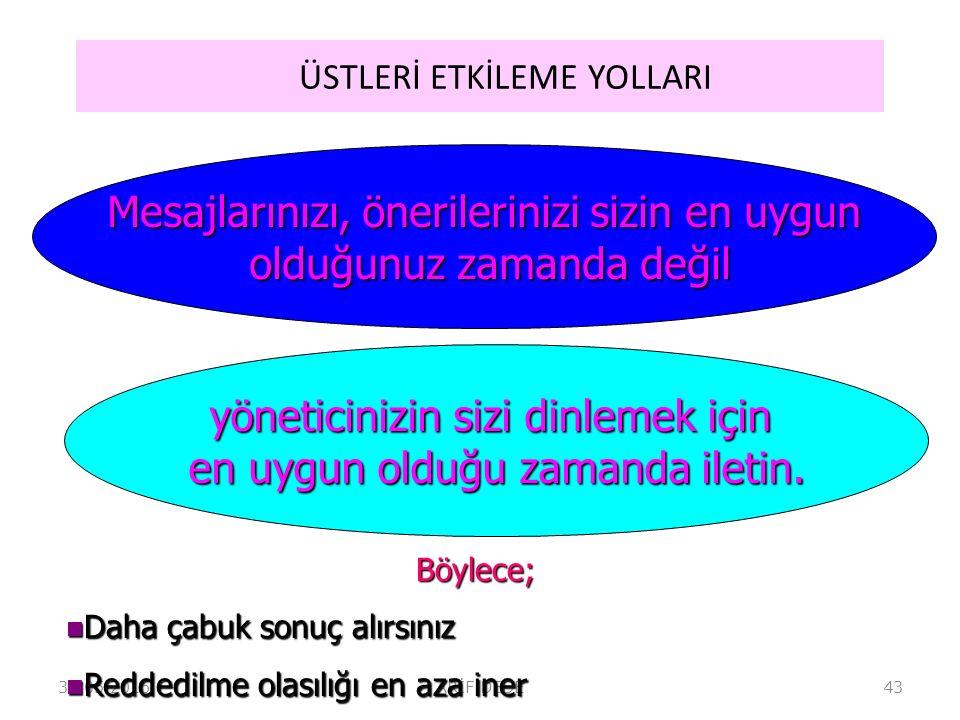 ÜSTLERİ ETKİLEME YOLLARI