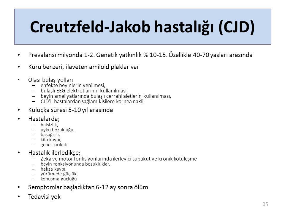 Creutzfeld-Jakob hastalığı (CJD)