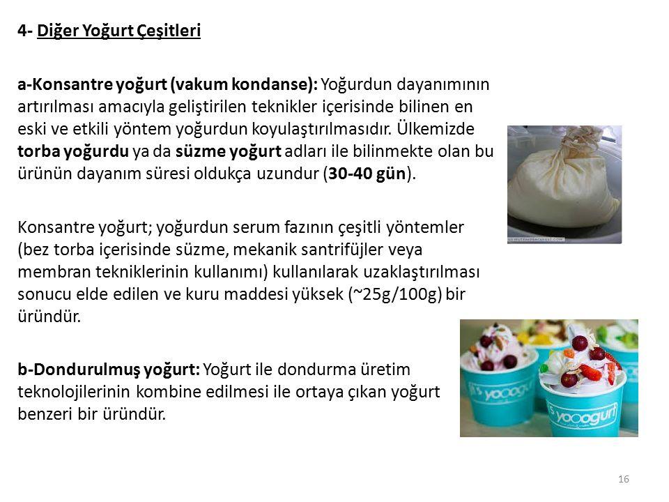 4- Diğer Yoğurt Çeşitleri
