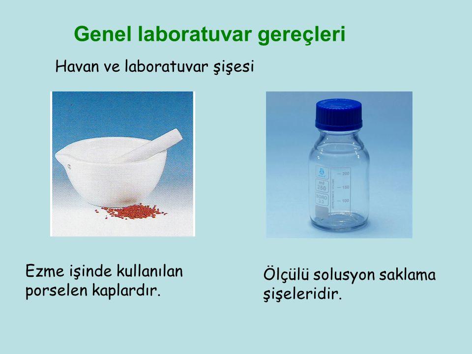 Genel laboratuvar gereçleri