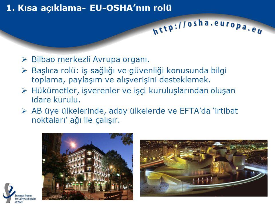 1. Kısa açıklama- EU-OSHA'nın rolü