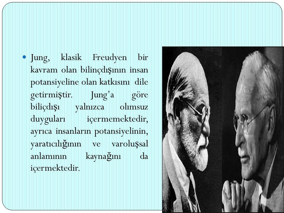 Jung, klasik Freudyen bir kavram olan bilinçdışının insan potansiyeline olan katkısını dile getirmiştir.